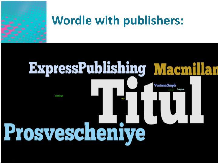 Wordle with publishers: