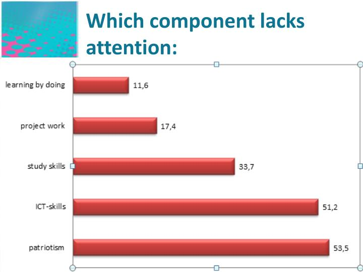 Which component lacks attention: