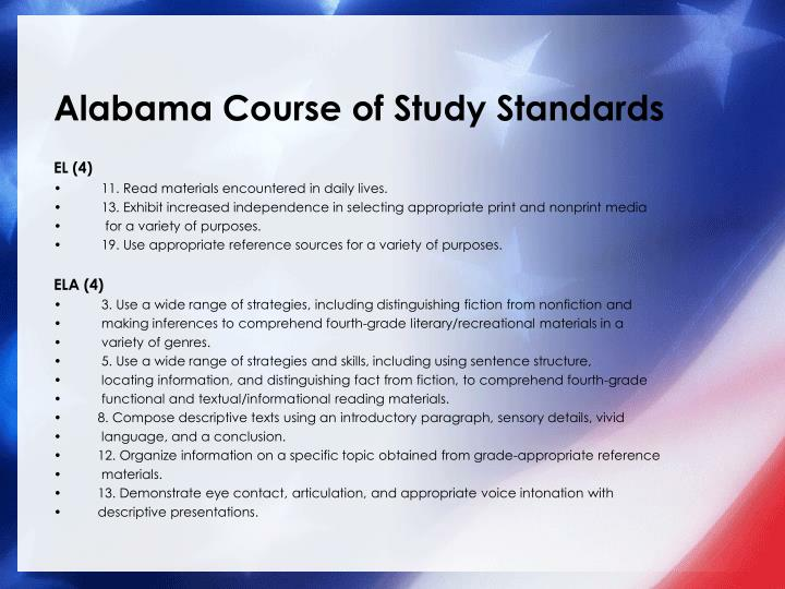 Alabama Course of Study - ALSDE Home