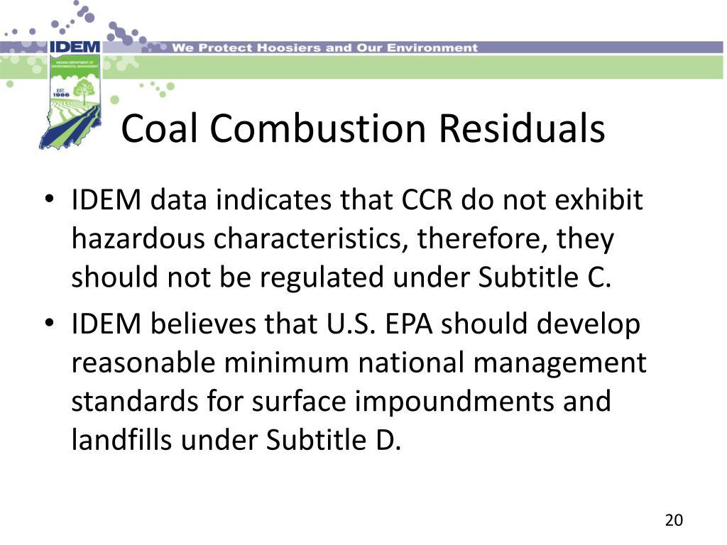 Coal Combustion Residuals