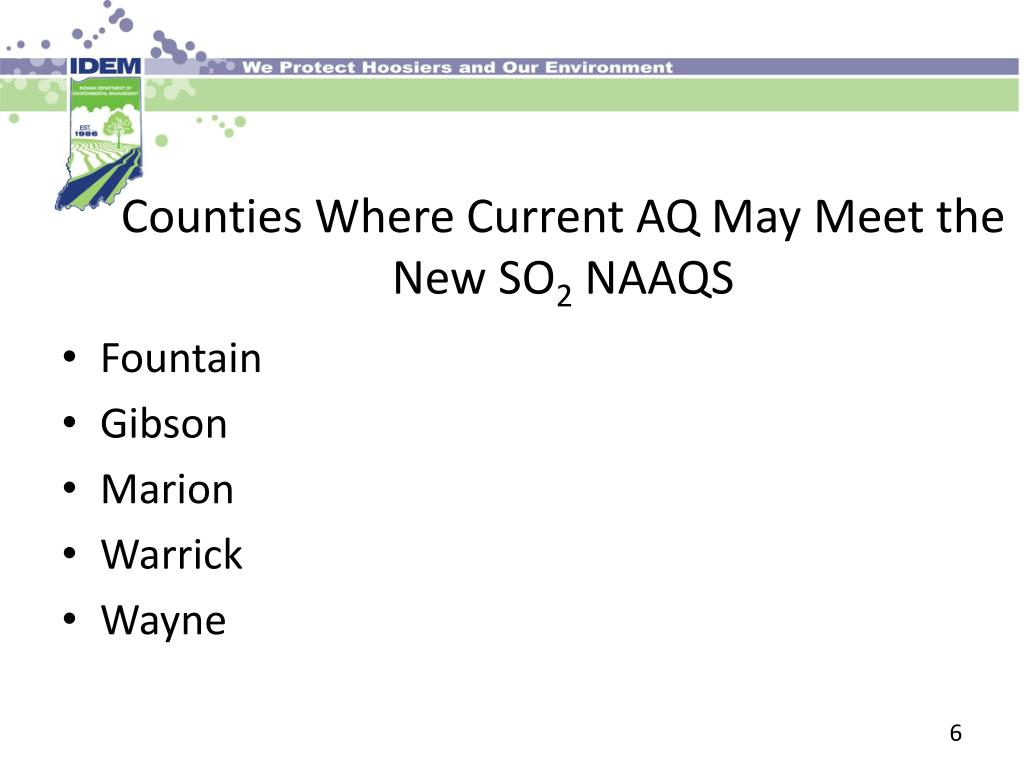 Counties Where Current AQ May Meet the New SO