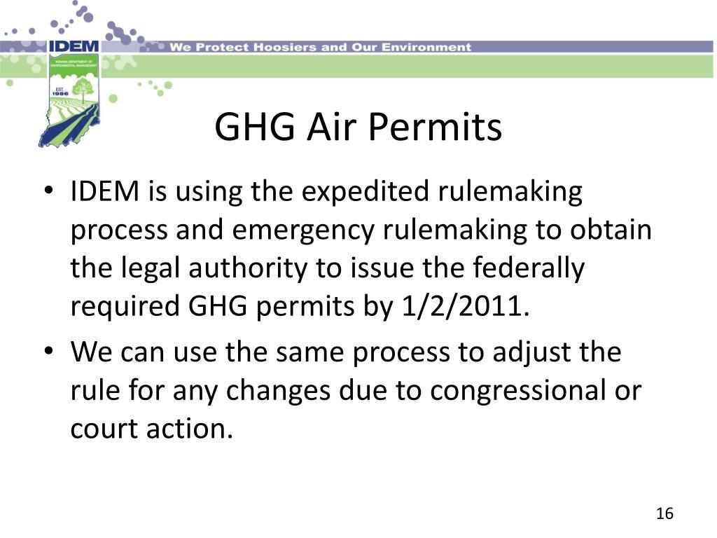 GHG Air Permits
