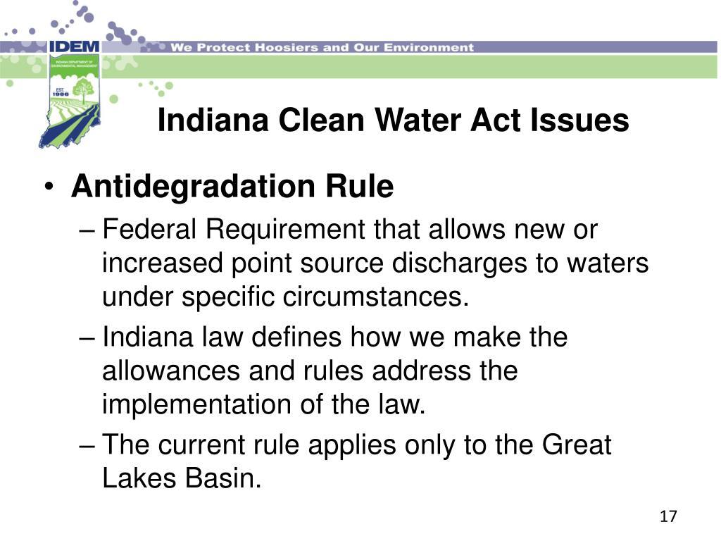 Antidegradation Rule