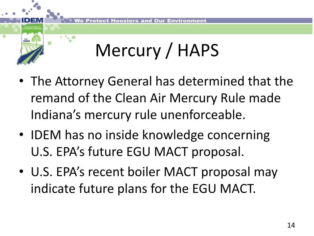 Mercury / HAPS