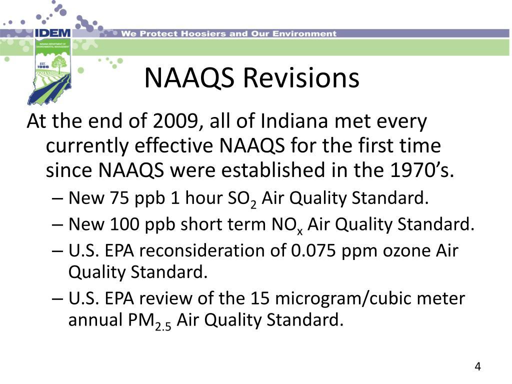 NAAQS Revisions