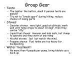 group gear