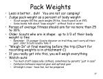 pack weights