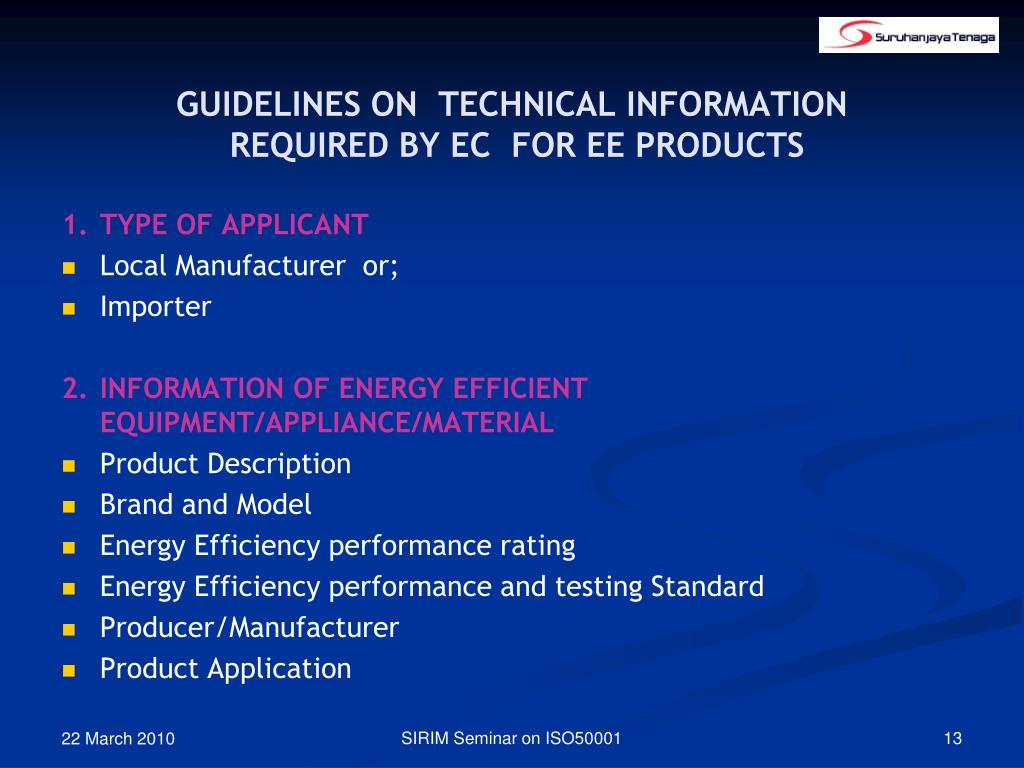 GUIDELINES ON  TECHNICAL INFORMATION