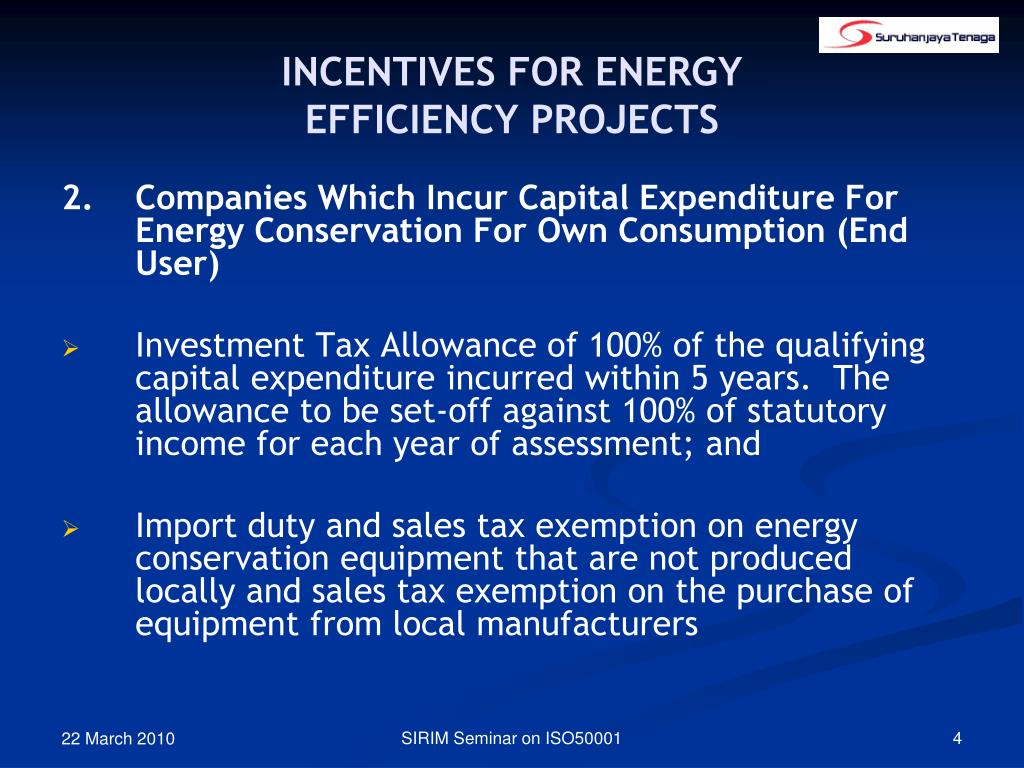 INCENTIVES FOR ENERGY