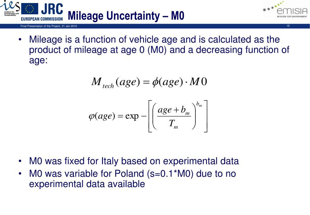 Mileage Uncertainty – M0
