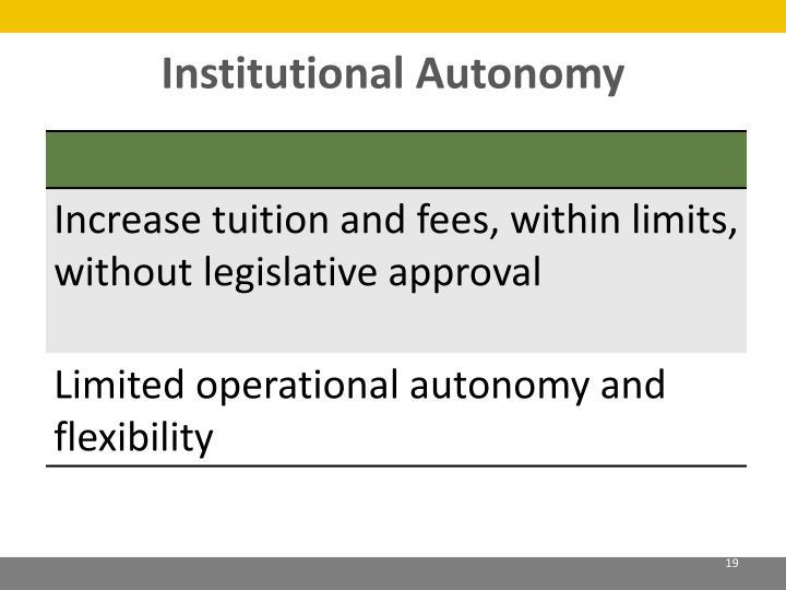 Institutional Autonomy