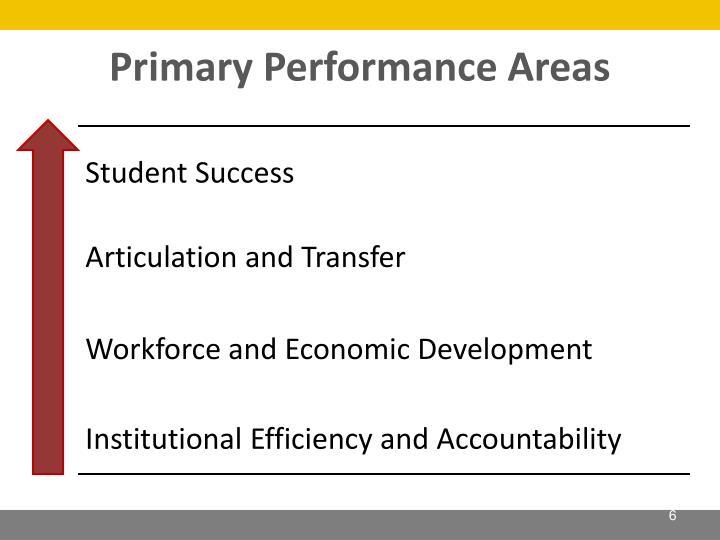 Primary Performance Areas