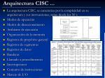arquitectura cisc