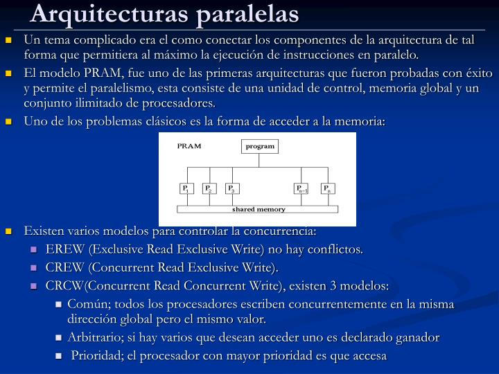 Arquitecturas paralelas