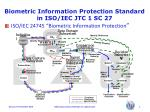 biometric information protection standard in iso iec jtc 1 sc 275