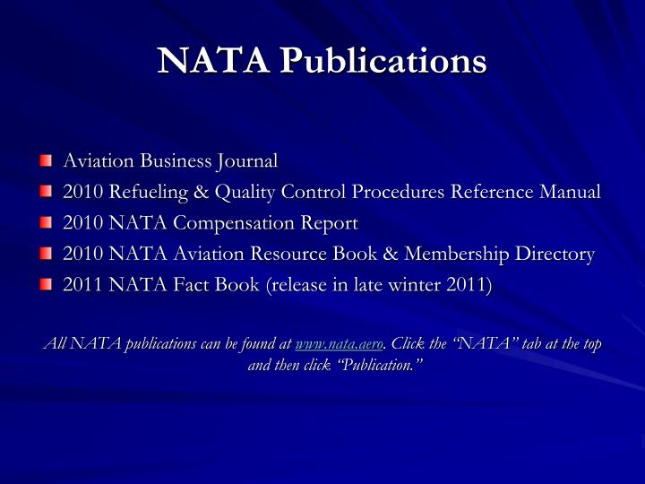 NATA Publications
