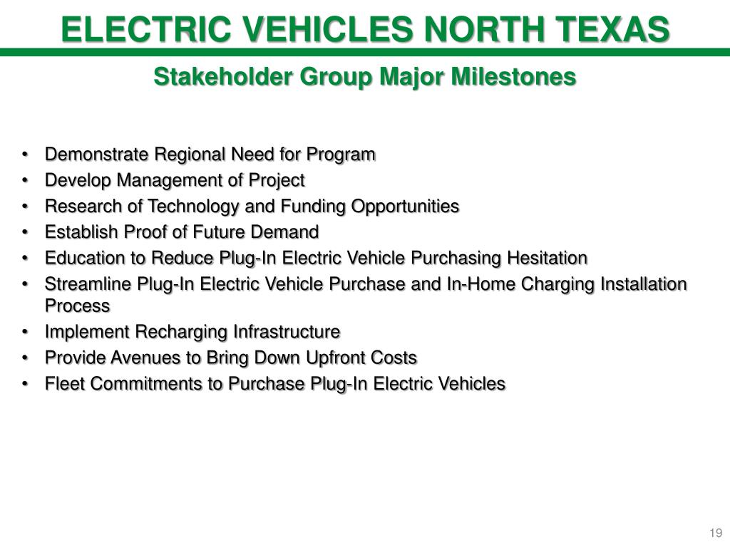 ELECTRIC VEHICLES NORTH TEXAS