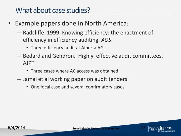 What about case studies?