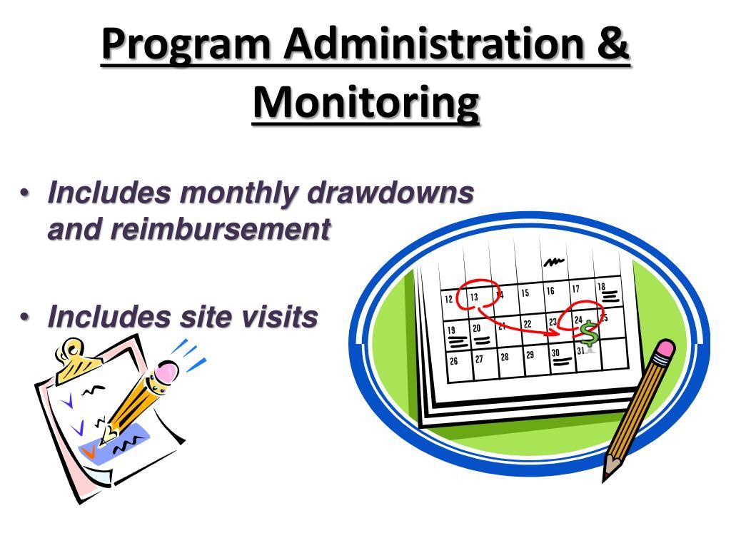 Program Administration & Monitoring