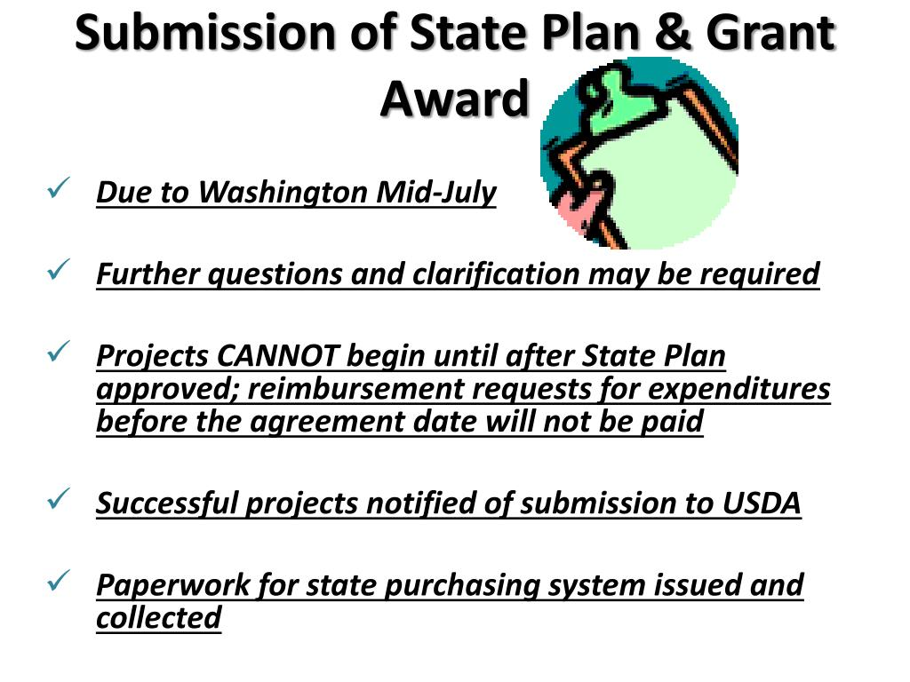 Submission of State Plan & Grant Award