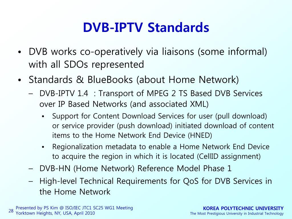 DVB-IPTV Standards