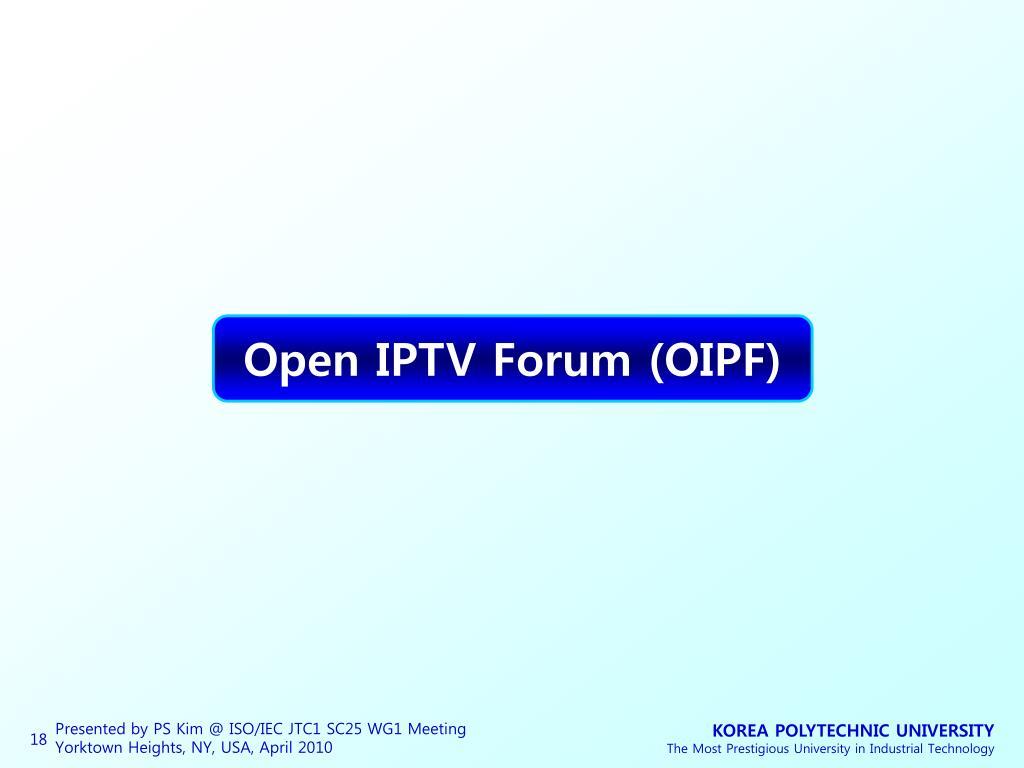 Open IPTV Forum (OIPF)