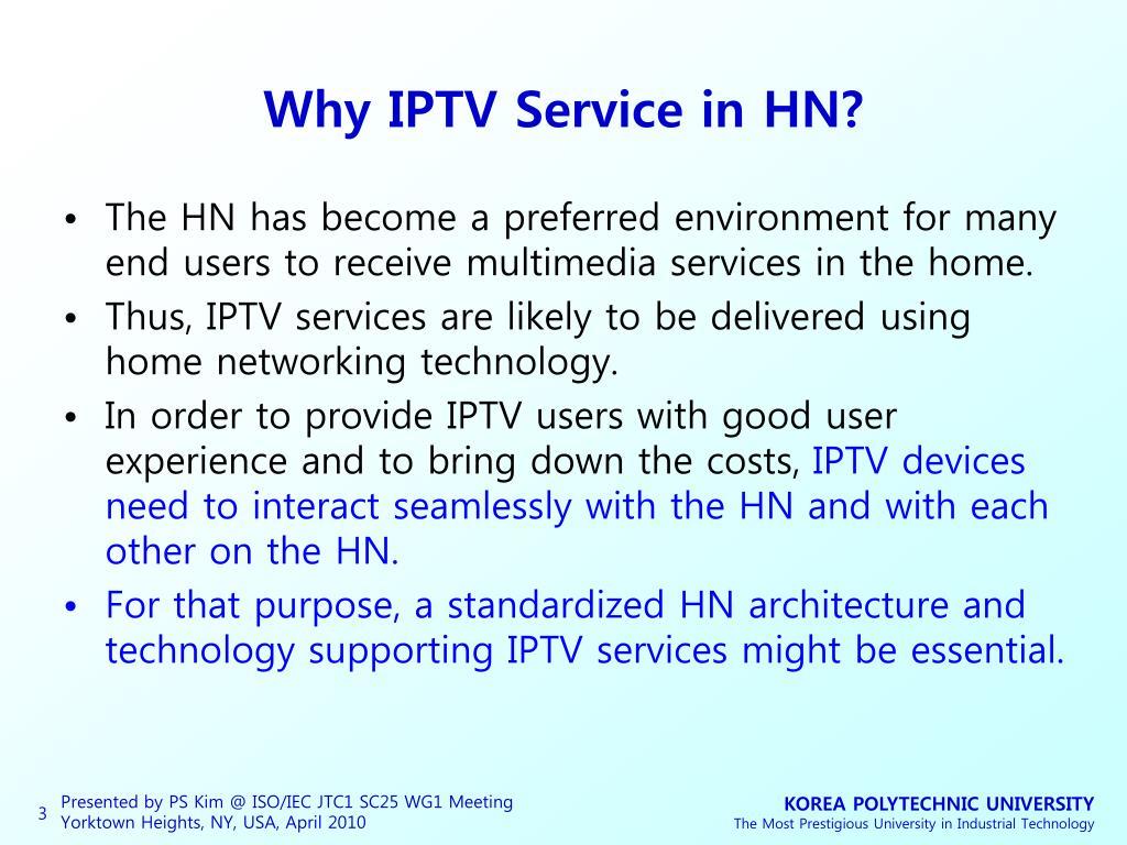 Why IPTV Service in HN?