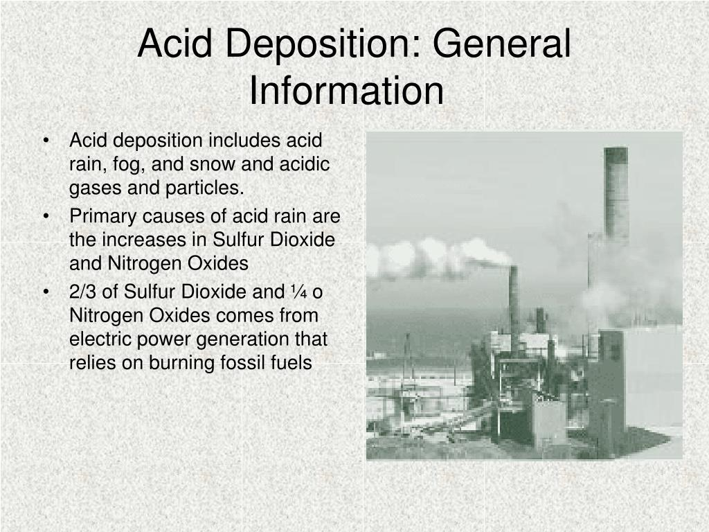 Acid Deposition: General Information