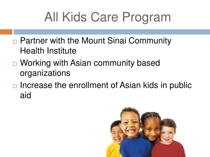 All Kids Care Program