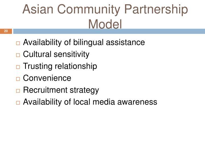 Asian Community Partnership Model