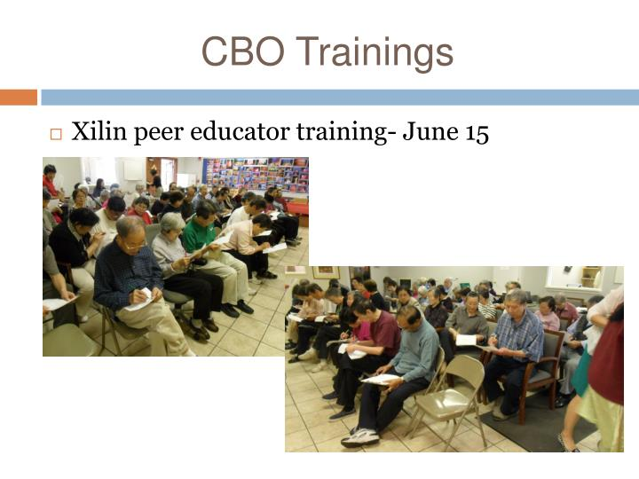 CBO Trainings