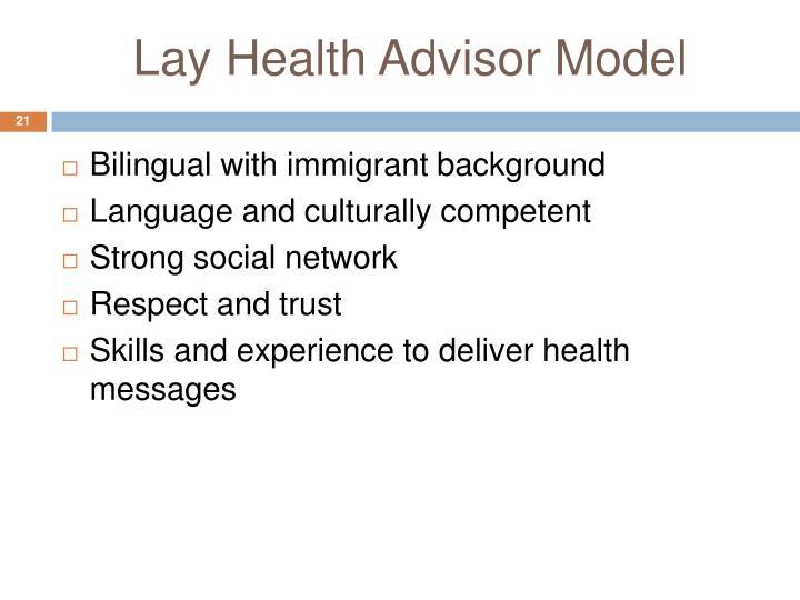 Lay Health Advisor Model