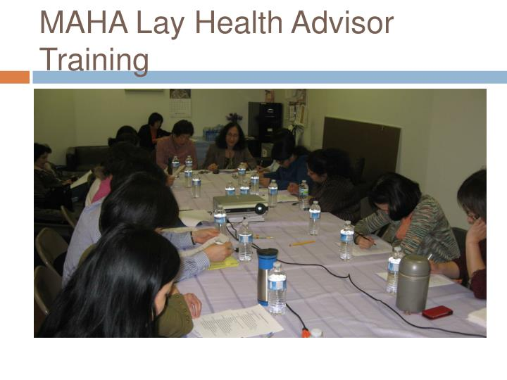 MAHA Lay Health Advisor Training