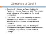 objectives of goal 1