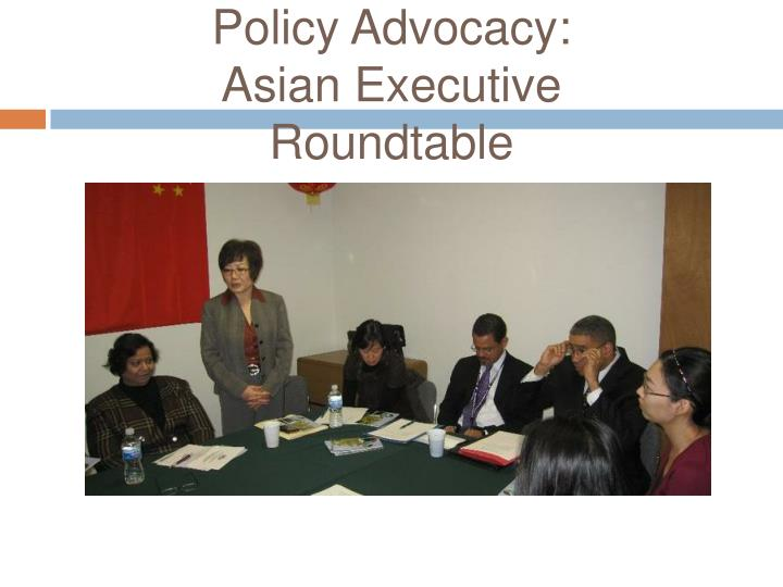 Policy Advocacy: