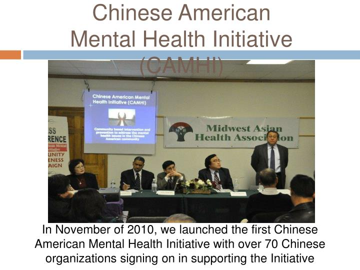 Chinese American Mental Health Initiative (CAMHI)