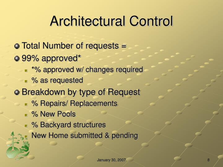 Architectural Control