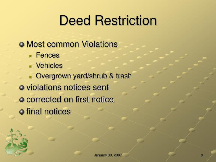 Deed Restriction