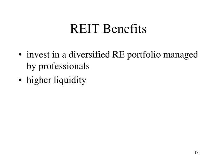 REIT Benefits