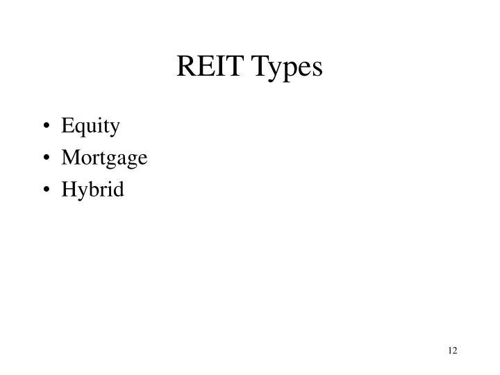 REIT Types