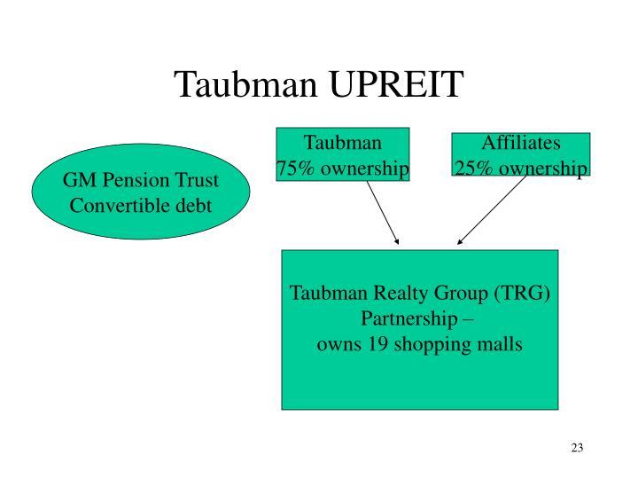 Taubman UPREIT