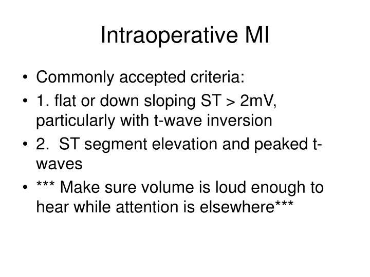 Intraoperative MI