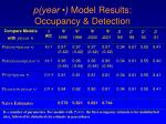 p year model results occupancy detection