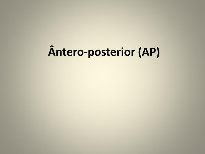 Ântero-posterior