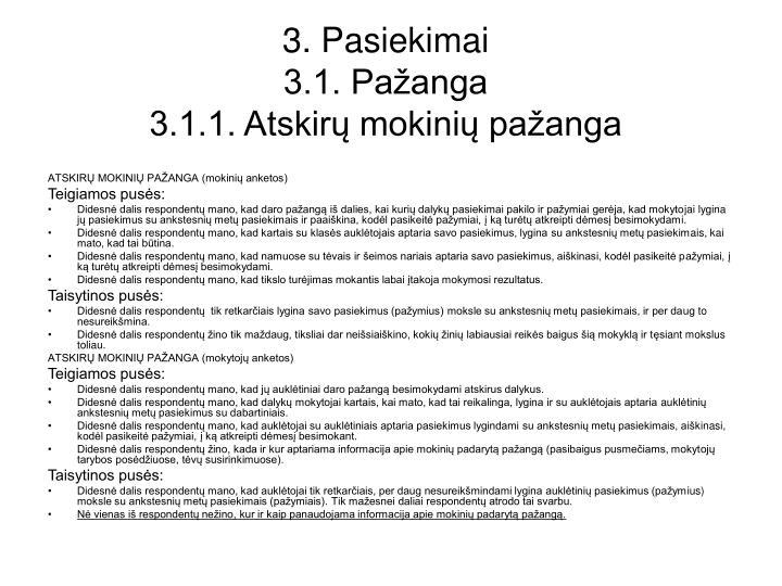 3. Pasiekimai