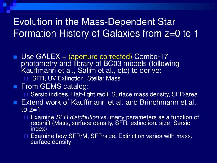 Evolution in the Mass-Dependent Star Formation History of Galaxies from z=0 to 1