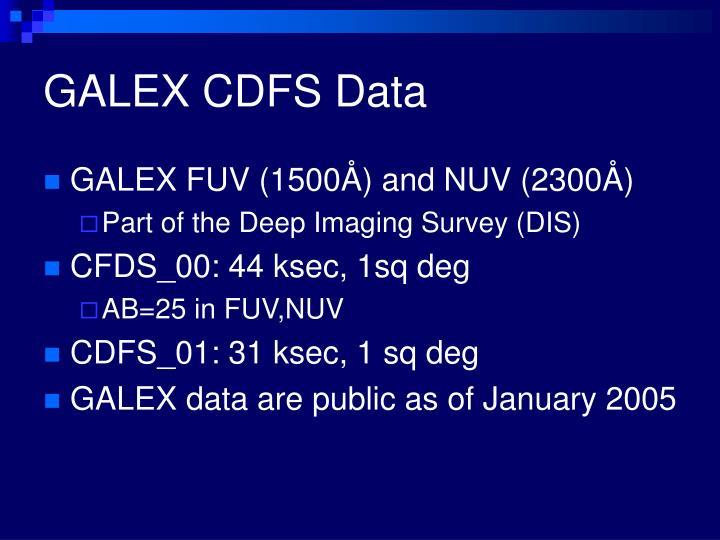 GALEX CDFS Data