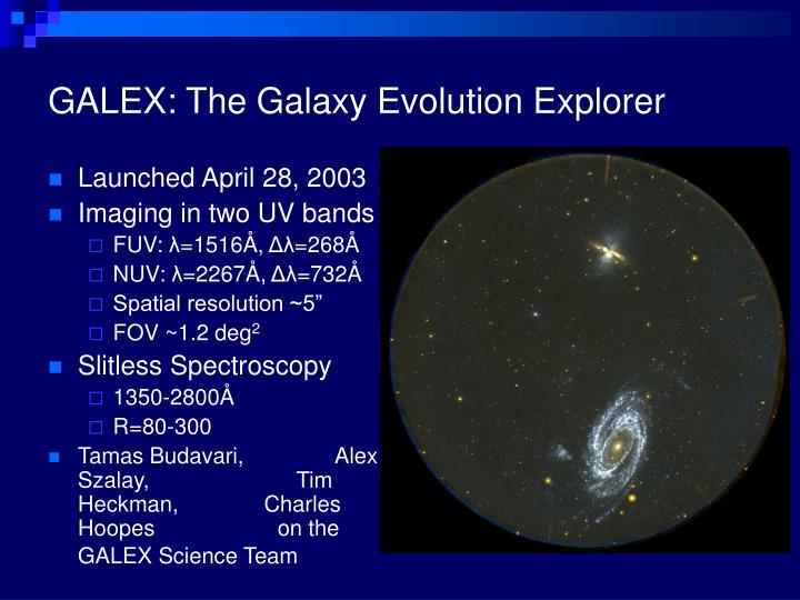 GALEX: The Galaxy Evolution Explorer