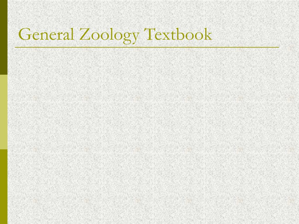 General Zoology Textbook