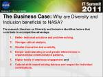 the business case why are diversity and inclusion beneficial to nasa